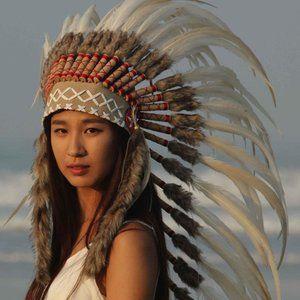 Stunning Custom Made Native American Headdress